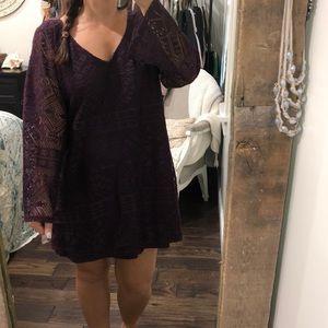 Xhilaration lace shift dress; new;XXlarge; purple